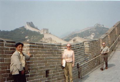 Aad op de Muur bij Badaling